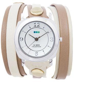 My custom watch from La Mer- CASE: Silver Odyssey, STRAP: Sand/Stone Gold Layer