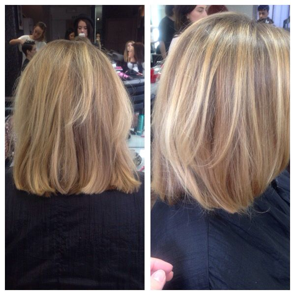 Long hair that I cut into a one length Bob with square layers to help keep the weight at the bottom  18/05/15