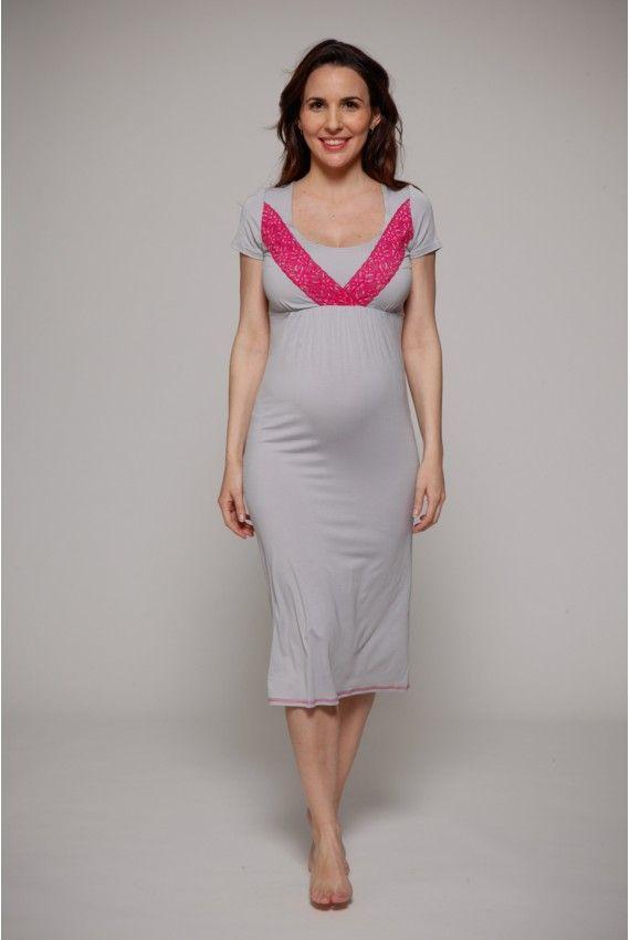 Camicia da notte gravidanza e allattamento. 2