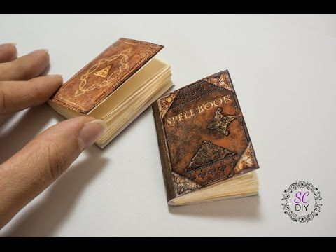 Tutorial: Mini Notebook per Halloween (ENG SUBS - DIY mini spell books for Halloween) - YouTube