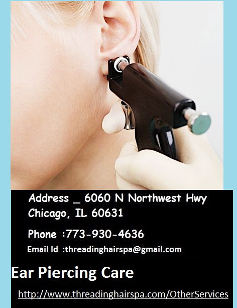 Top Ear Piercing Care, At Threading Hair & Spa, Salon Chicago, Ear Piercing could be a not a straightforward trick. Threading Hair & Spa provides ear and nose piercing during a reposeful atmospheric to calm even the foremost nervous piercing consumer. Ear Piercing is not an easy task. We offer best Ear Piercing service in Chicago USA. We offer reasonable Ear Piercing service in Chicago.