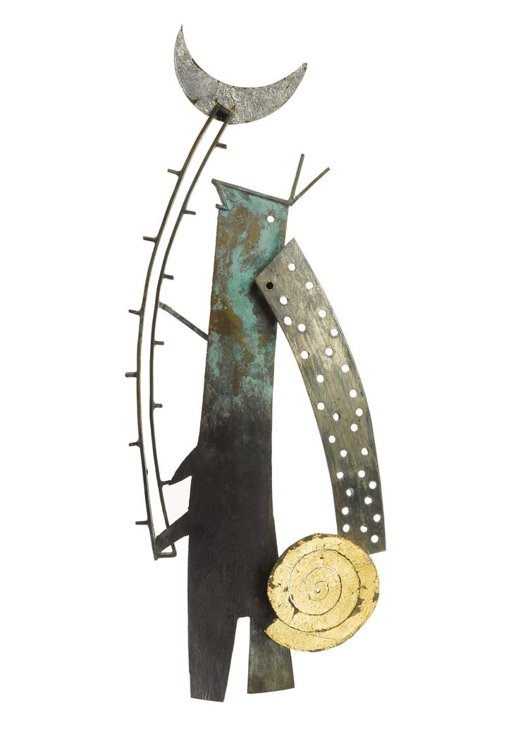 Brooch of silver and nickel silver: Spanish, Barcelona, by Ramon Puig Cuyas, 1992