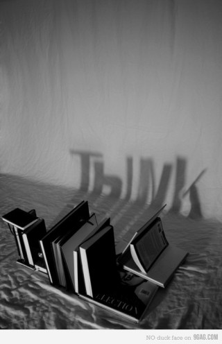 When you get it right, books can be more than books, and words can be more than word. They can make you think.