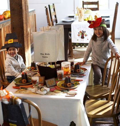 Children thanksgiving table - How to: Set a Great Kids' Table for Thanksgiving by Pottery Barn Kids
