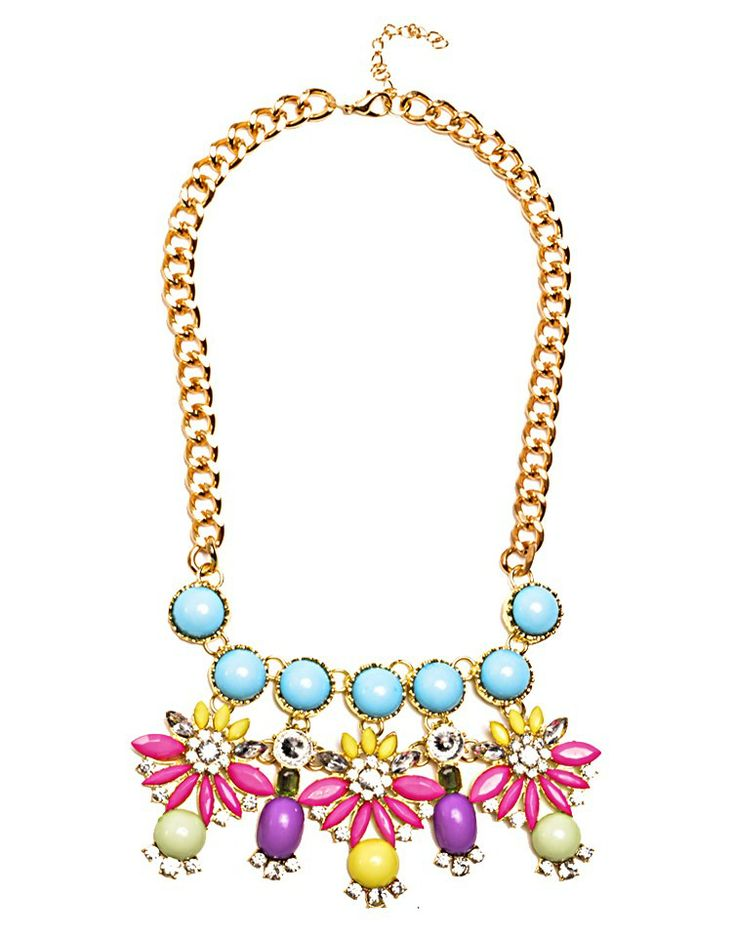 FRED TSUYA | Pearl Floral Neck in Light Blue -  - Style36
