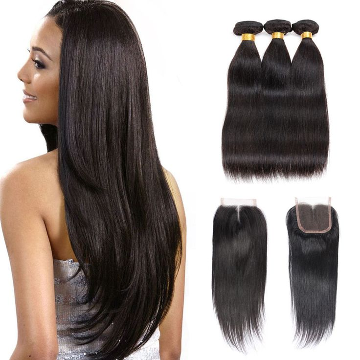 37 best natural black straight hair extensions images on pinterest lace closure with bundles peruvian virgin hair human hair extensions grade 8a pmusecretfo Image collections