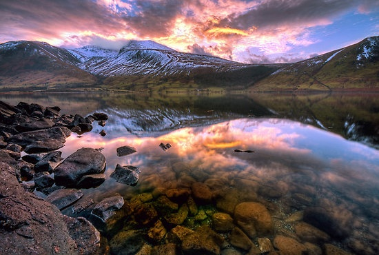 Take a road trip to the beautiful 'Wast Water', Lake District, England