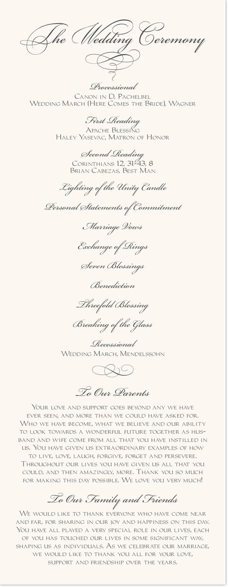Silver Claddagh Border Wedding Programs