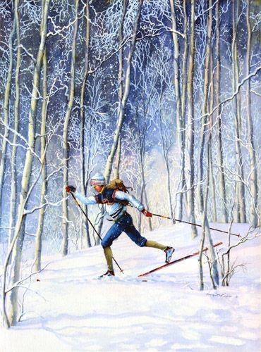 Whispering Tracks by Hanne Lore Koehler ~ cross-country Nordic skier