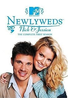 """Newlyweds: Nick & Jessica.  """"Newlyweds"""" follows the lives of pop stars Nick Lachey and Jessica Simpson in the same way """"The Osbournes"""" follows Ozzy's clan."""
