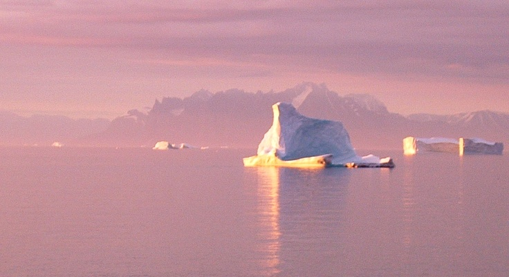 Greenland by the midnight sun.