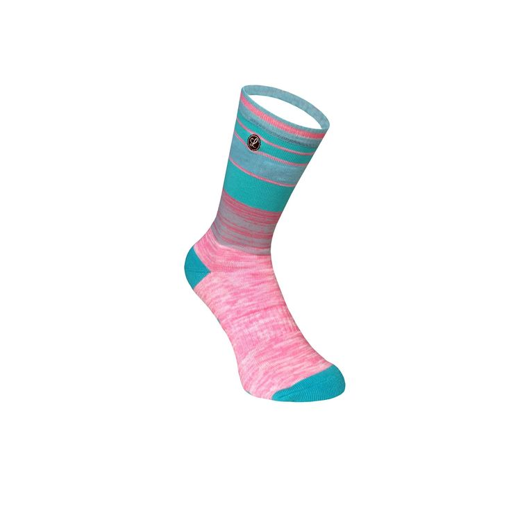 Legends Sock Company Lifestyle Knits Lars 2.0 Teal Pink Crew Socks