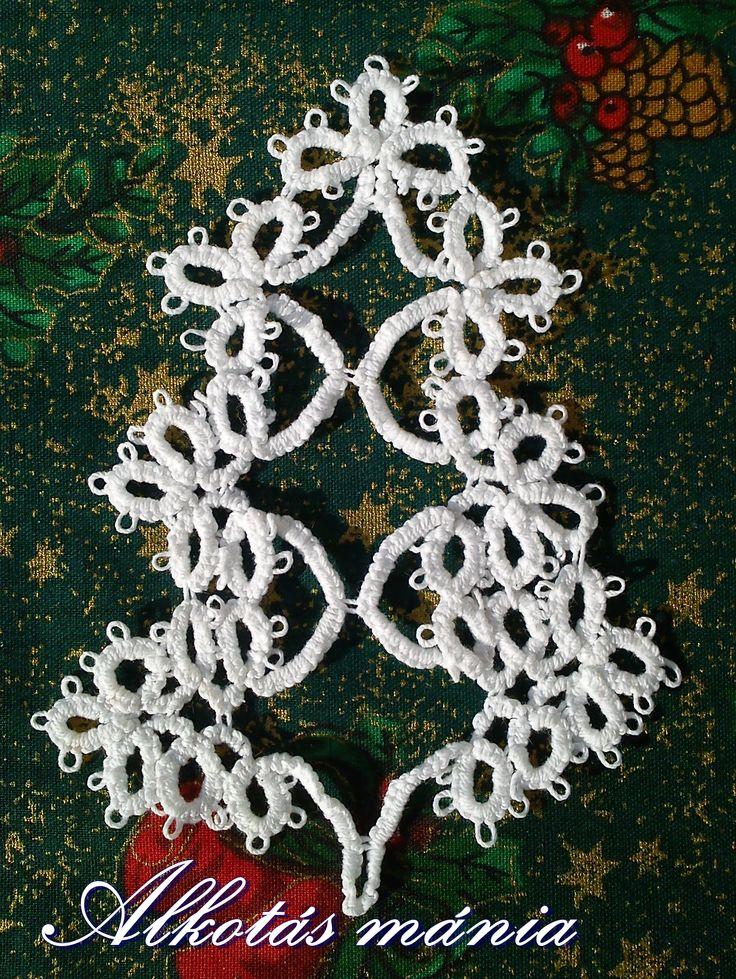karácsony#fa#ünnep#frivolitás#hajócsipke#dísz