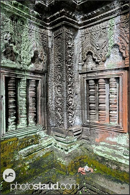 Ta Prohm Temple, Angkor, Cambodia. After the fall of the Khmer Empire in the 17 century the temple Ta Prohm was abandoned and neglected for centuries.