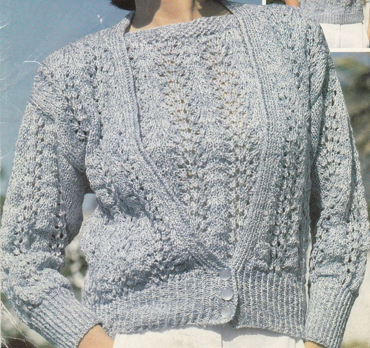 Vintage Knitting Pattern Instructions for a Ladies Sleeveless Top & Cardigan