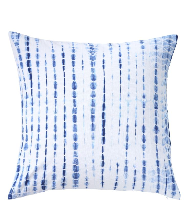 Casement fabric is tie-dyed to form sparse streaks of ocean blue colour. The design brings a cool vibe with the light and dark effect due to the hand tying technique. www.theindianpick.com