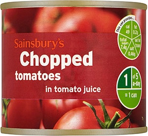Sainsbury's chopped tomatoes