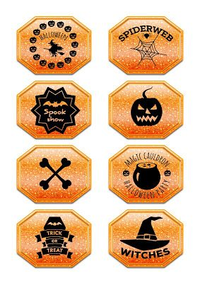 Nuskina: Etiquetas halloween gratis para manualidades varia...