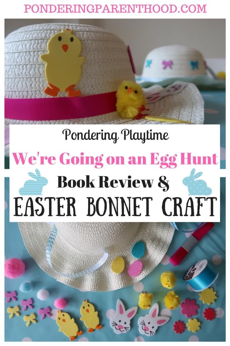 We Re Going On An Egg Hunt Easter Bonnet Craft Pondering Playtime