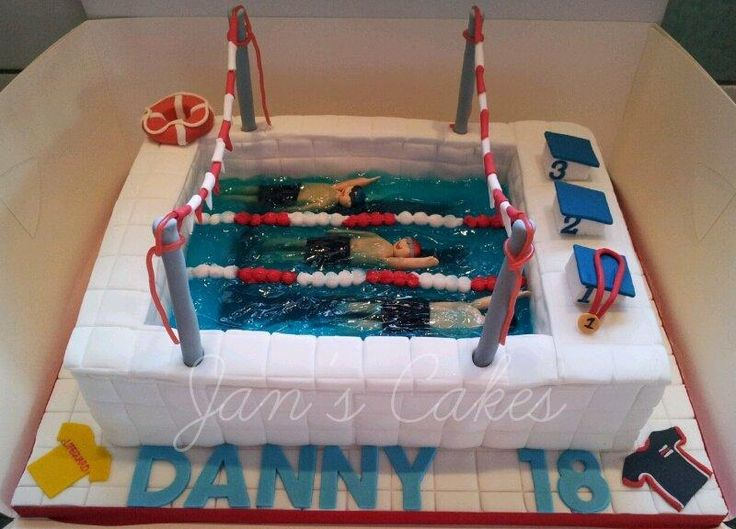 Requested by a friend for her son who swims in the local swimming club. It was very personalised for Danny – his best stroke is backstroke; when you swim backstroke you count your strokes from the flags until the end of the pool, hence the flags;...