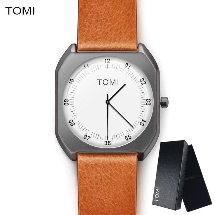 US $72.64 - TOMI Brand New Fashion luxury Elegant woman Watches Simple Ultra Thin dial Casual Male Quartz Clock Man Watch Wristwatch Gift