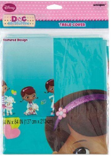 "Disney Junior Doc McStuffins Plastic Table Cover 54""""x84"""""
