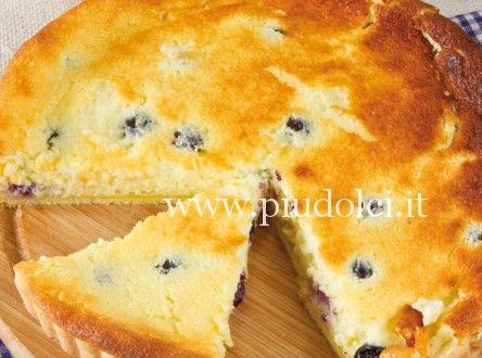 crostata ricotta e mirtilli