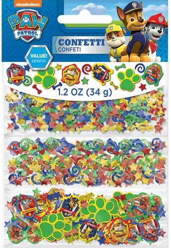 Add a touch of color to all the tables in your home with this PAW Patrol Confetti! The package includes 1 oz. of confetti in three different designs.Includes (1) ounce of themed confetti in three diff