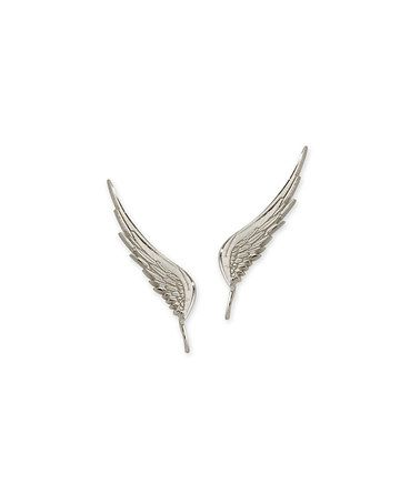 Look what I found on #zulily! Silver Angel Wing Ear Pin Earrings by Orogem #zulilyfinds