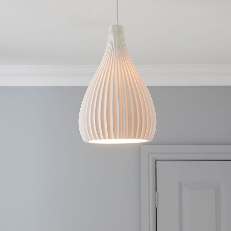 Asinara white matt pendant ceiling light