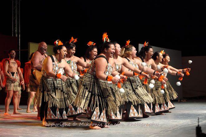 52ο Διεθνές Φεστιβάλ Φολκλόρ. (17-24/08/2014). Ahikaaroa Kapa Haka. Maori. New Zealand.