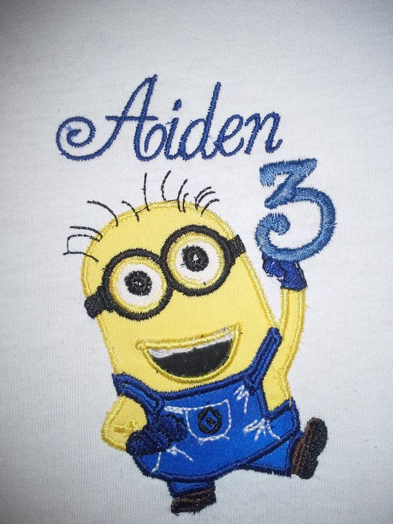 Personalized Minion Birthday Applique Shirt By SoBelleCreations 2100