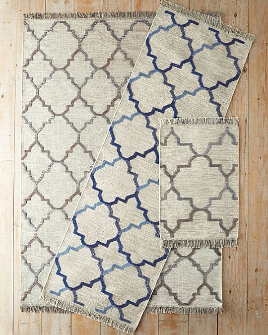 Moroccan Tile Flat-Weave Wool Rug