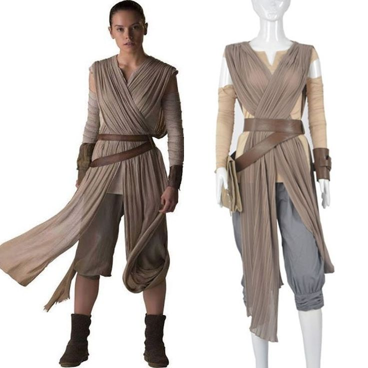 Top Grade Star Wars The Force Awakens Rey Cosplay Costume Full Set #Handmade #CompleteCostume