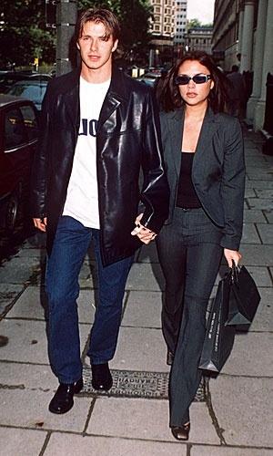 David Beckham and Victoria Adams in 1997
