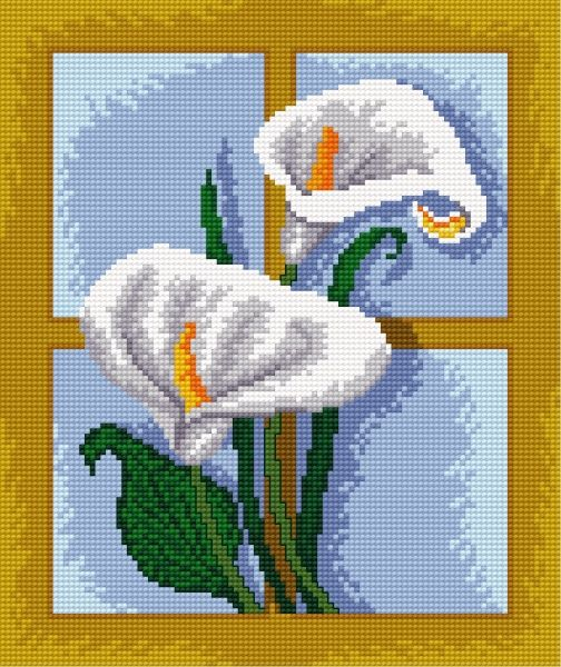 calla lillies free cross stitch