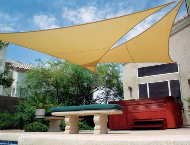shade sails on pinterest custom shades decks and triangle shade