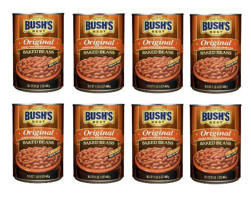 Bush Best Since 1908 Original Baked Beans Seasoned with Bacon  Brown Sugar 8 Pack of 165oz Each Sms10 * BEST VALUE BUY on Amazon