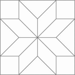 Quilt examples using the Eight-Pointed Star block