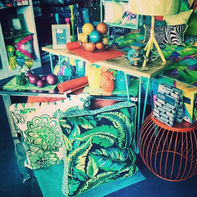 More bright colours! Love the new Kas floor cushions!