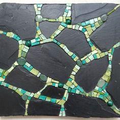 Tableau mosaïque ardoise vert et noir