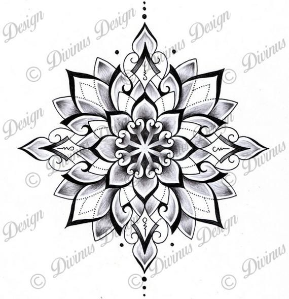 Tribal Geometric Mandala Tattoo Design And Stencil Instant Etsy Geometric Mandala Tattoo Mandala Tattoo Design Geometric Tattoo Design