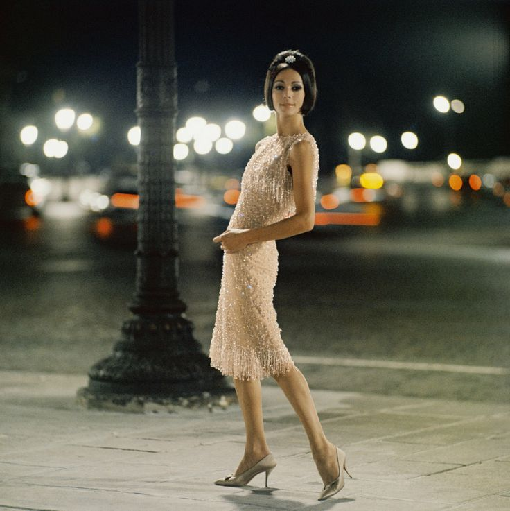 Kouka Denis in Dior, photo by Mark Shaw, Paris, 1961