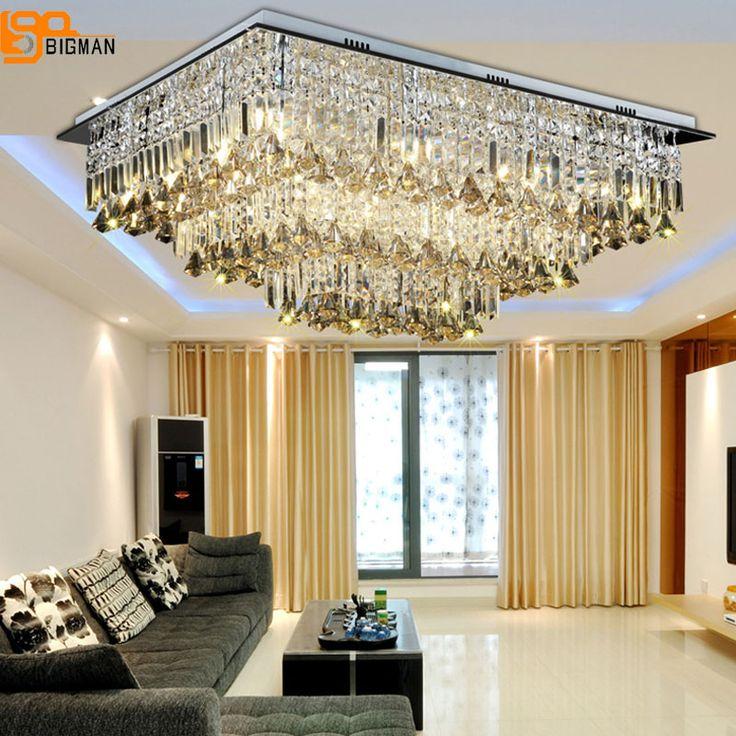 new modern chandeliers crystal lamp ceiling fixtures ac110 240v lustre living room lights led lamps