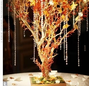 46 best wedding centerpiecesdecorations images on pinterest fall wedding centerpiece with crystals junglespirit Images
