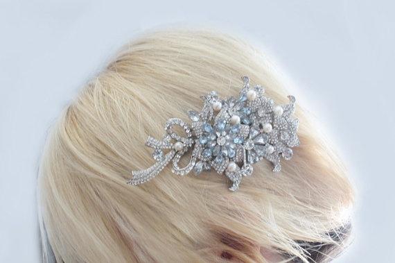 Pearl bridal combcrystal wedding combwedding hair by bridalwear, $55.00