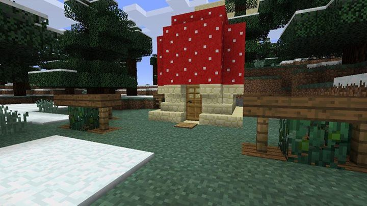 Minecraft building design cute mushroom house this - Things to know when building a house ...