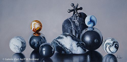 Mickie Acierno, 'Jack Be Nimble', 8'' x 16'' | Galerie d'art - Au P'tit Bonheur - Art Gallery