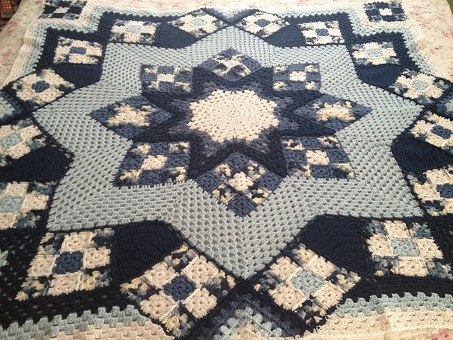 Blue Star Afghan by Kathy Blakely. Made for my mom :-)