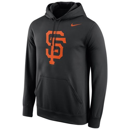 9e8d36a99a8 ... hot san francisco giants nike logo performance pullover black mlb hoodie  653e7 29332